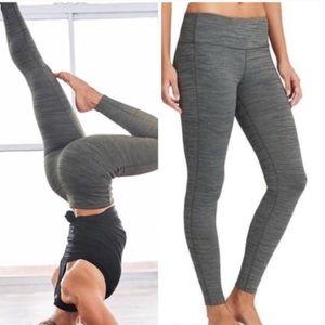 Athleta Chatarunga Gray Space Dye Hi Legging XL